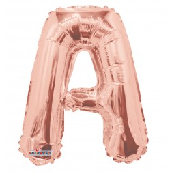 """AirFilled 14"""" SP: Rose Gold Shape Letter A"""