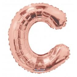 "AirFilled 14"" SP: Rose Gold Shape Letter C"