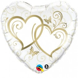 """18"""" Entwined Hearts Gold"""