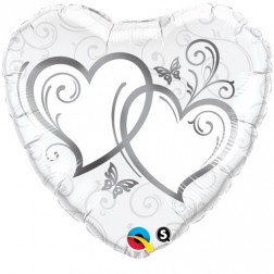 """18"""" Entwined Hearts Silver"""