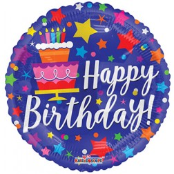 """18"""" SP: BV Birthday Cake & Stars"""