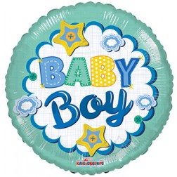 """18"""" SP: BV Baby Boy Quilt"""