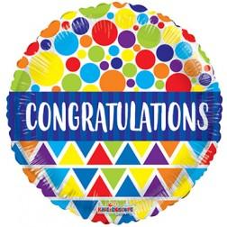 """18"""" SP: BV Congratulations Dots & Triangles"""