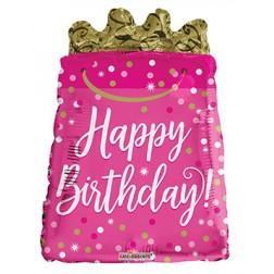 "18"" SP: Birthday Gift Bag Shape"
