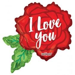 "Air Filled 12"" Love Rose Shape"
