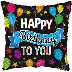 "4"" Birthday Balloons & Banner"