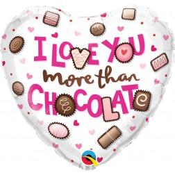 """18"""" I Love You More Than Chocolate"""