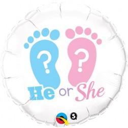 "18"" He Or She? Footprints"
