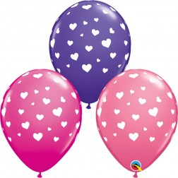 """11"""" Randon Hearts-A-Round Special Asst. (50 ct.)"""