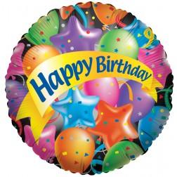 "4"" PR Festive Balloons Happy Birthday"