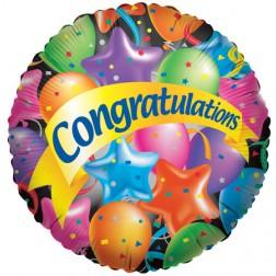 "9"" Festive Balloons Congratulations"