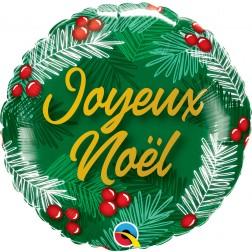 "18"" Joyeux Noel-Branches De Sapin"