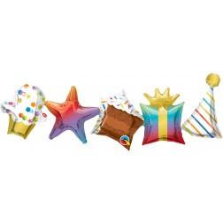 "41"" Shape Birthday Garland"