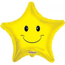 "4"" Smiley Face Star"