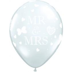"11""Mr. & Mrs. Diamond Clear (50ct)"