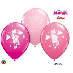 "11"" Disney Minnie Asst. Wild Berry, Pink, Rose (25 ct.)"