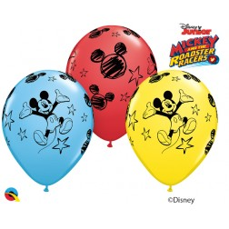 """11"""" Disney Mickey Asst. Red, Pale Blue, Yellow (25 ct.)"""
