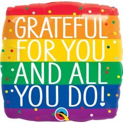 "18"" Square Grateful For You & All You Do"