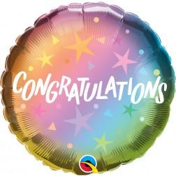 "18"" Congratulations Ombre & Stars (pkgd)"