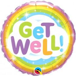 """18"""" Get Well Rainbow (pkgd)"""