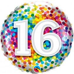 "18"" 16 Rainbow Confetti (pkgd)"