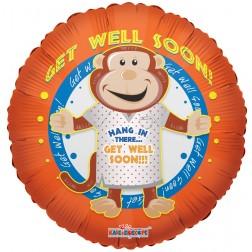 """09"""" PR Get Well Monkey"""