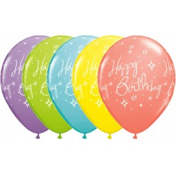 "11"" Birthday Elegant Sparkles & Swirls Sorbet Assortment (50ct)"