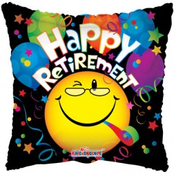 """18"""" SP: Happy Retirement Smiley"""