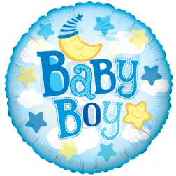 "09"" Baby Boy Moon Clear View"