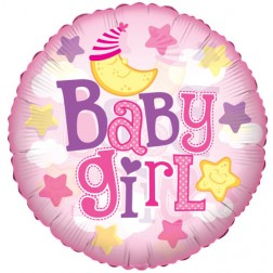 "09"" Baby Girl Moon Clear View"