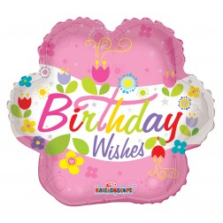 """04"""" BIRTHDAY WISHES FLOWER"""
