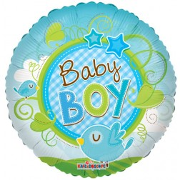 "09"" Baby Boy Bird Clear View"