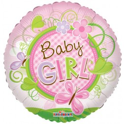 "09"" Baby Girl Butterfly Clear View"