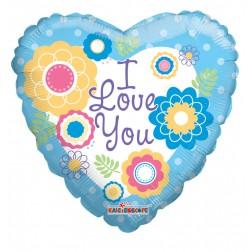 "09"" I Love You Flowers"