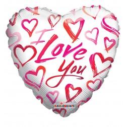 "09"" LOVE SKETCHY HEARTS"