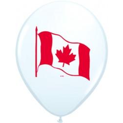 "11"" Canada Flag White (50ct)"