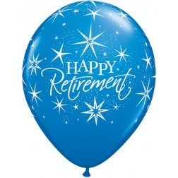"11"" Happy Retirement Bursts Carnival Assortment (50ct)"