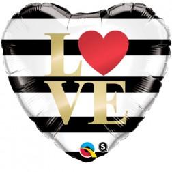 """18"""" L(Heart)VE Horizontal Stripes"""