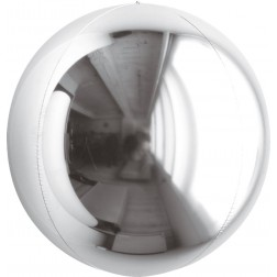 """10"""" Metallic Silver Balloon Ball"""