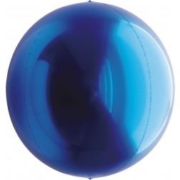 "14"" Metallic Blue Balloon Ball"