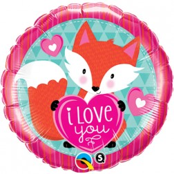 "18"" Love You Foxy Heart"