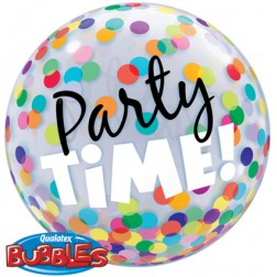 """Bubble 22"""" Party Time! Colourful Dots"""