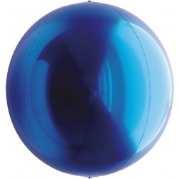 "7"" Metallic Blue Balloon Ball"