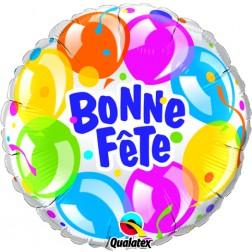 """18"""" Bonne Fête - Ballons scintillants"""