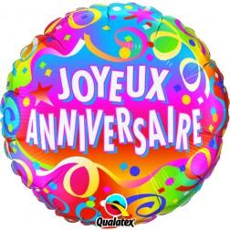 "18"" Joyeux anniversaire - Confetti"