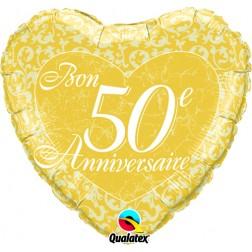 "18"" Bon 50e anniversaire - Coeurs"