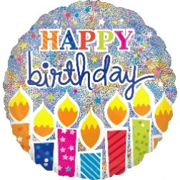 Jumbo Shimmer Birthday Candles