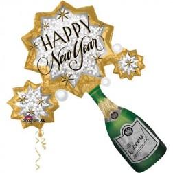 SuperShape New Year Champagne Burst