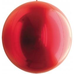 "24"" Metallic Red Balloon Ball"