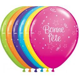 """11"""" Bonne Fête - Étoiles Brillantes Assortiment tropical (50/sac)"""